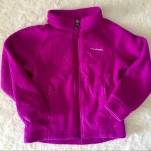 Columbia Toddler Girl's 3T Zip Up Fleece